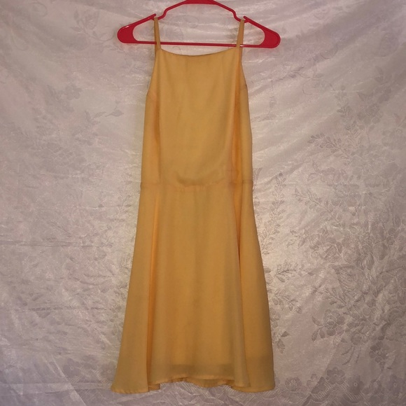 Wet Seal Dresses & Skirts - Backless yellow dress